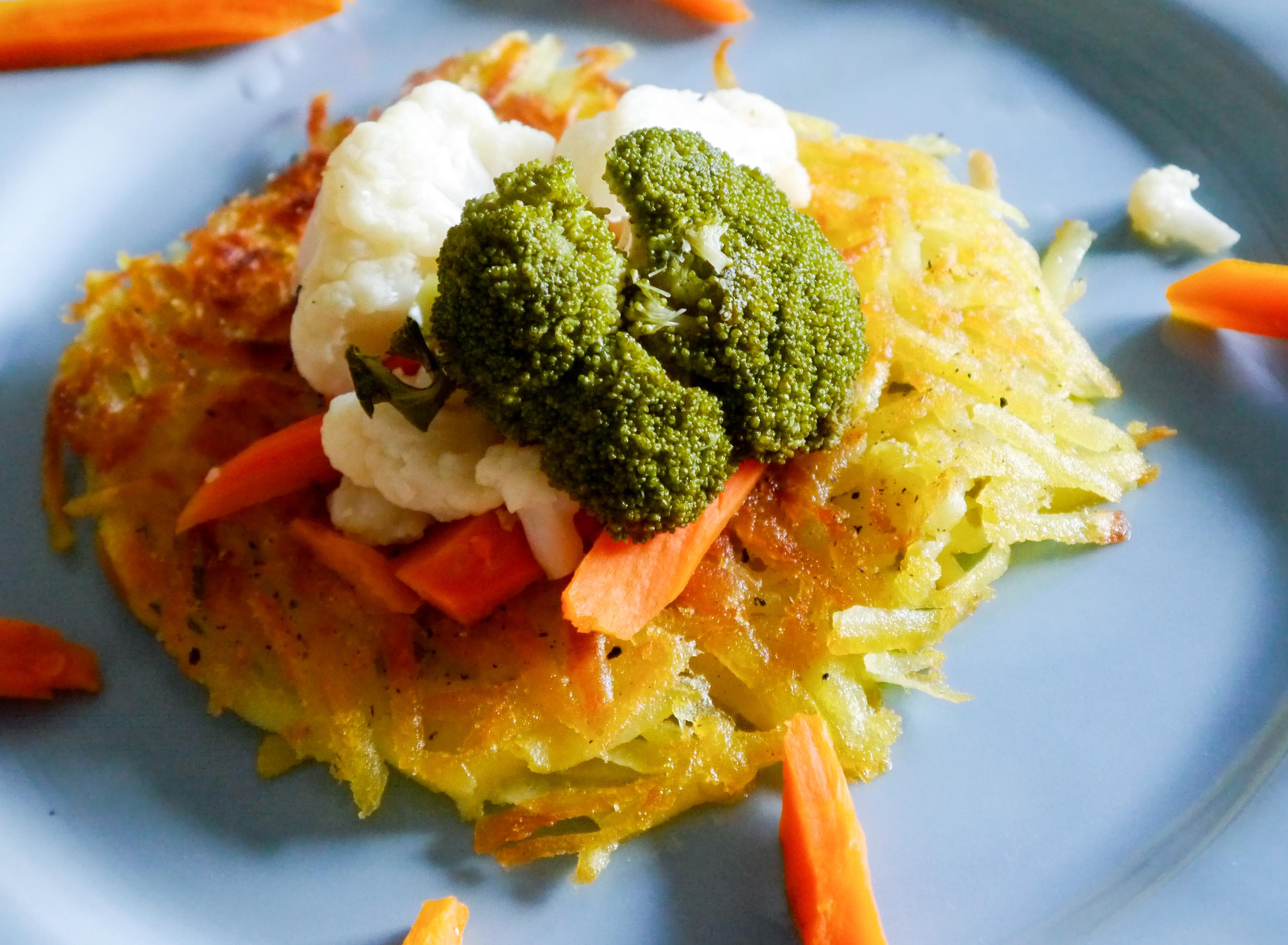 Kartoffelrösti mit Gemüse